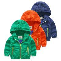 Boys Jackor och Coats Toddler Boys Jacka Höstkläder Hooded Coat för barn Ytterkläder Windbreaker Blazer Baby kläder