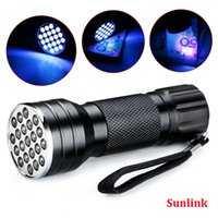 mini led flashlight torch waterproof UV Ultra Violet 21 LED ...