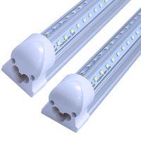 V-vormige 2ft 3ft 4ft 5ft 6ft 8ft led buizen geïntegreerde T8 LED fluorescerende buislichten + gratis 1ft verlengsnoeren