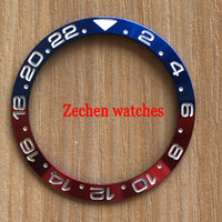 38mm red and blue ceramic bezel for men women watches mechan...