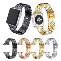 Creative Sports Fish-scale en acier inoxydable bande de montre réglable bracelet de montre pour Apple Watch bande iWatch 38mm / 42mm Series3 / 2/1