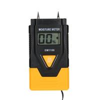 Freeshipping Цифровой Влагомер Качественный гигрометр ЖК Вуд Строительный Материал Влажность Детектор Мокрый Датчик Тестер Измерения Температуры