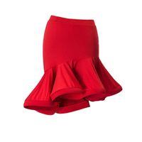 Mode ruffle oregelbunden sexig latinska dans kort kjol för kvinna / kvinna, balsal kostym prestanda slitage praxis klänning 2055