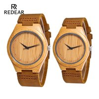 O envio gratuito de Moda de madeira couro Lovers' Assista With No para homens ou mulheres Relógios melhor presente para o Dia dos Namorados