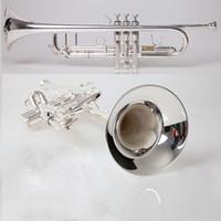 Trompete chapeado de prata profissional do instrumento musical da trombeta TR-600