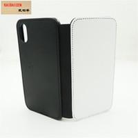 Groothandel voor iphone x 8 7 6 6 s plus 5 5 s SE 5C 4 4S Case Sublimation lege lederen portefeuille met magneet en kaart Houdersr telefoonhoes