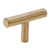 Manija de los muebles de la forma de T del acero inoxidable Perilla del gabinete del armario Tira de la manija del cajón del oro Manija de los muebles de la puerta Herramientas del hardware