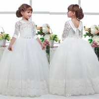 Three Quater Sleeves Special Occasion Gown Flower Girl Dress...