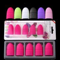 5 STÜCKE Nail art Tränken Kappe Silikon UV Gel Polish Lackentferner Wiederverwendbare Wraps Gummi Maniküre Werkzeuge