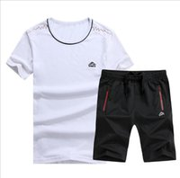 Traje de chándal Chándal Hombres 2PC Shorts Summer Brand Tshirt Men Letter Printed Sportsuit Set 2018 Fashion Suit Men Top t-Shirt