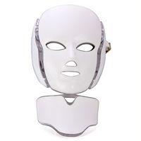 7 Farben LED-Gesichtsmaske für Hautverjüngung Ance-Entfernung PDT-Fototherapie-Gesichts- und Nackenmaske mit Mikrostrom