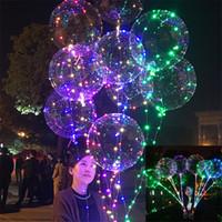 20 polegada LED piscando bola bobo 3 m onda luzes balões de corda flash cores claras claro balão de natal do dia das bruxas festa de casamento home decor