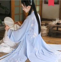 Традиционный вышитый свадебный плащ повседневная Хань китайская одежда весна и лето с длинными рукавами Мантуя свадебные фотографии костюмы