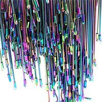 """Colar Chain da serpente da cor do arco-íris de 1.2mm 22 """"corrente de aço inoxidável 22inch"""