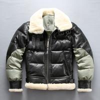 AVIREX splice aşağı ceketler ABD B3 hava kuvvetleri uçuş ceketler Akın koyun çift yüz kürk palto