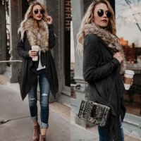 Wholesale 2018 New Style Women Cardigan With Fur Collar Plus...