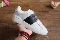 مصمم أحذية مصمم الأزياء للرجال والنساء حذاء رياضة عارضة أحذية مفتوحة أعلى جودة جلد طبيعي العديد من الأساليب حجم 35--46