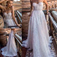 2018 Berta Fall Sweetheart Neckline Wedding Dress Plus Size Vestido De Novia Sexy Backless Beach Wedding Dresses