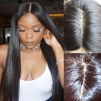 Pre Plucked Silk Base Full Lace Human Hair Wigs With Baby Ha...