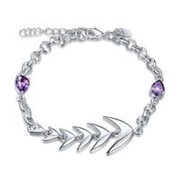 Alta quatity Peixe Bone Bracelet pulseira de prata esterlina banhado SPB532;! 925 moda homens e mulheres alta Quatity Braceletes