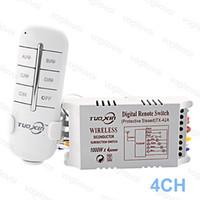 التبديل الطريق 4ch 220 فولت الإضاءة الملحقات ل LED لوحة السقف مصابيح المصابيح الرقمية RF البعيد تحكم اللاسلكية الارسال البلاستيك dhl