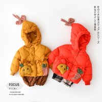 INS baby girl clothing winter coat hooded rabbit and carrot ...