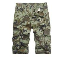 2018 nuovi uomini freddi camuffamento vendita calda di estate casuale del cotone Pantaloni Uomo brevi di marca abbigliamento comodo Camo Cargo Shorts