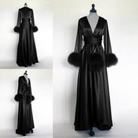 2021 hiver noir nuit robe peignoir FAUx fourrure mariée mariée robe de demoiselle d'honneur robe pour femme pyjama pejamas pyjamas