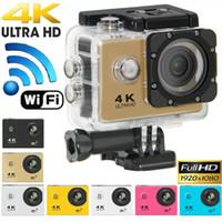 """4K Ultra HD Action Kamera F60 4K / 30FPS 1080P Sport WiFi 2.0 """"170D Helm Cam Unterwasser wasserdichte Sport-Kamera mit Retail-Paket JBD-M7"""