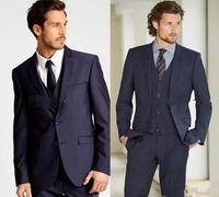 2019 Yeni Resmi Smokin Suits Erkekler Düğün Suit Slim Fit İş Damat Suit Set S-4 XL Elbise Suits Erkekler Için Smokin (Ceket + Pantolon)