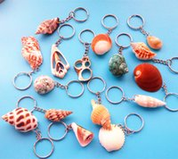 Cute Key ring Cell Phone Straps Charms Shell Conch Pendant C...