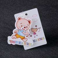 Personalizzato nuovo arrivo per bambini indumenti cartellini stampa colorato carta appendere tag vestiti del corpo appendere tag scarpe cartellini dei prezzi