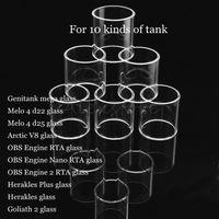 Genitank Mega Melo 4 D25 Arctic V8 Obs Silnik 2 RTA Nano Herakles Plus Goliat II Atomizer Vape Wymiana Pyrex Glass Tube