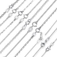 BAMOER классический основной цепи 100% стерлингового серебра 925 Омаров Застежка регулируемая ожерелье цепь ювелирные изделия SCA009-45