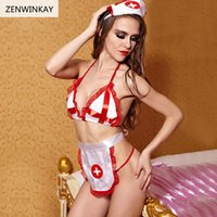 Female Sexy Cosplay Women Lingerie Sexy Nurse Costume Role P...
