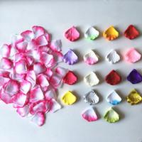 17colors 100pcs / pack 빨간색 흰색 장미 꽃잎 결혼식 장식 인공 꽃 실크 꽃 장식 장식 꽃과 화환
