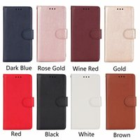 Solid Color Wallet Phone Case for iPhone X 5 6 7 8 Plus and ...