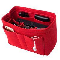 Fühlte (3MM) Gewebe-Geldbeutel-Organisator-Einsatz für Geldbeutel-Handtaschen-Taschen-Tasche, multi Taschen-Tasche im Beutel-Organisator für Tote-Handtaschen-Former. 3 Größen