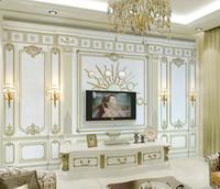 Benutzerdefinierte 3D Wandbild Tapete geprägt klassische europäische 3d Wandbilder 3D 3 D Wohnzimmer Schlafzimmer Hintergrund Wand Vlies Tapete