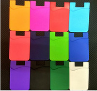 Mixed colors Promotional gift 3M sticker silcone smart pouch...
