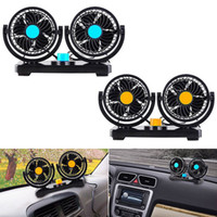 fan for auto 12V 24V Electric Car Double Head Fan Rotatable ...