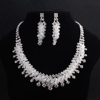 Fashion Bridal Jewelry Sets Austrian Crystal Crowns Necklace...