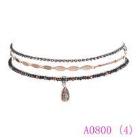 3 unids Cadena de Perlas de Las Mujeres de Cristal de Gota de Agua Neckalce Colgantes Joyería Gótica para las mujeres collar hermoso A0800