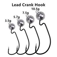 Kurşun Kafa Krank Kanca Balıkçılık Olta Takımı 3.5g 5.7g 7.5g 10.5g Yüksek Karbon paslanmaz çelik Hooks Shad Jigs Dikenli Kanca