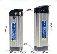 24v 36v 48V Silver Fish Elektrische Fahrrad-Lithium-Ionen-Batterie-500W 48V 10AH Ebike Li-Ionen-Akku Verwendung 18650 2000MAH Zellen mit 2A Ladegerät