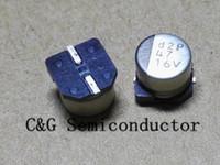 100pcs 16V 47UF SMD 6x5mm chip de aluminio condensador electrolítico