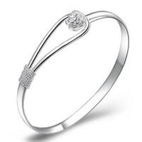 Регулируемый браслет браслеты корейский романтический шик девушки женщины любят День Святого Валентина подарок Шарм браслет прекрасный позолоченный серебряный браслеты