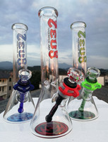 "Bongo de vidro mais barato 10 ""tubos de água de Rasta 18.8mm Beaker Joint Beakers ou Comprar Acessórios De Fumo Quartzo Nail De Glass Cinh Metal Moedor"