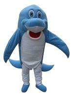 2018 haute qualité chaude dauphin bleu Costumes De Mascotte Personnage De Bande Dessinée Adulte Sz