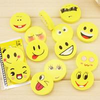 20 PCS / lot 새로운 미소 얼굴 지우개 연필을위한 고무 재미 있은 귀여운 문구 용품 학교 용품 사무 용품 학생 상
